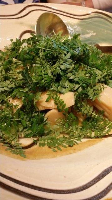 「田舎庵」でいただいた筍料理♪