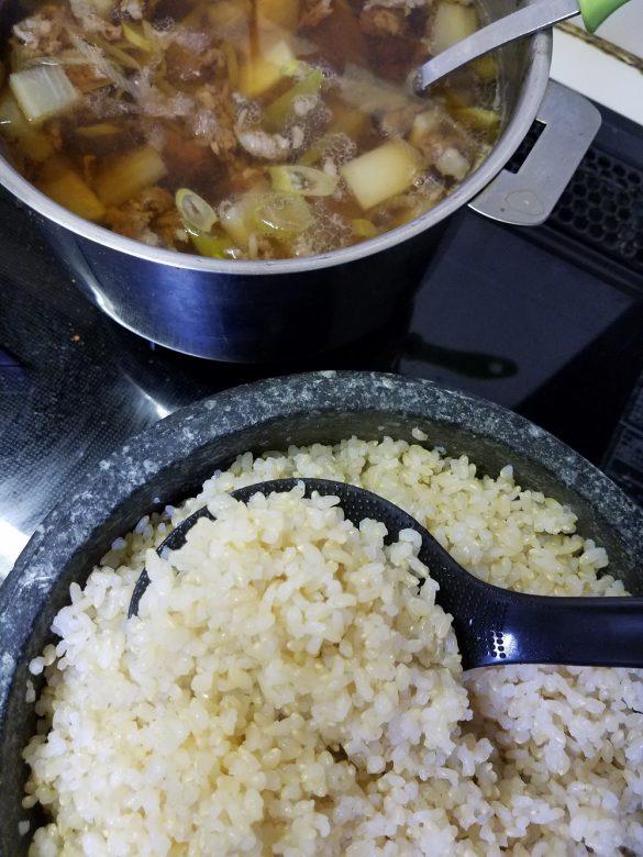 牛肉と大根のスープ。ねぎもたっぷり入れました。