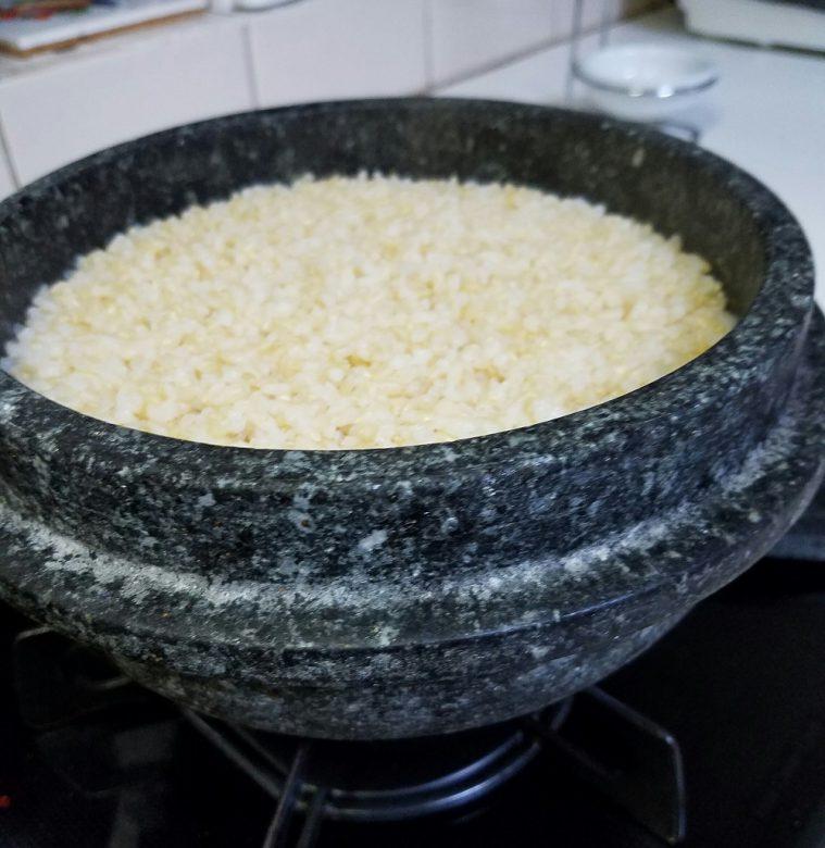 玄米ご飯。炊き立て!