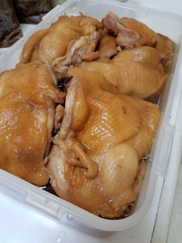 出来上がった鶏もも肉。おいしそうでしょ!