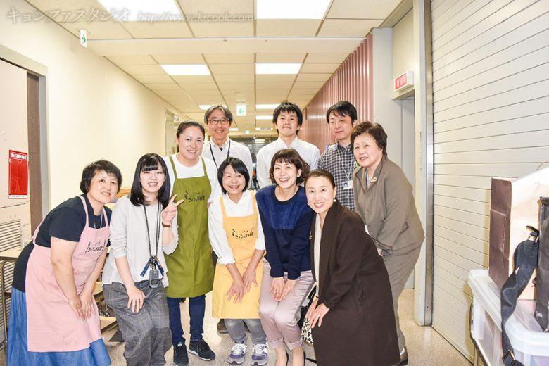 NHKスタッフのみなさまと一緒に。お疲れさまでした!!!