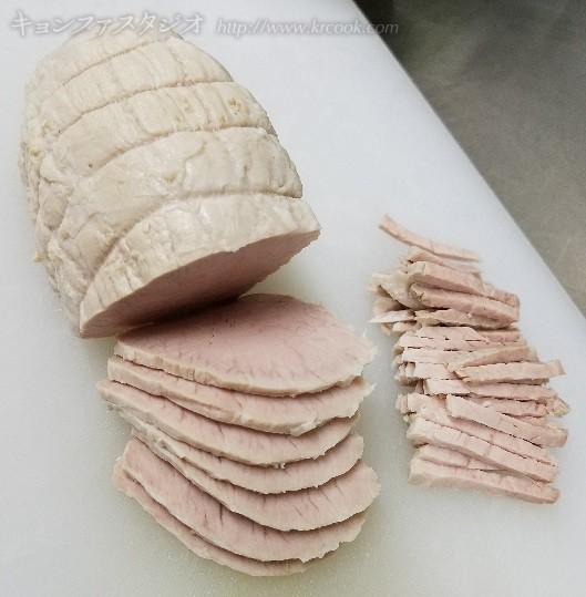 豚ロースはさっぱりしたチャプチエに。