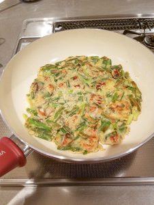 レシピ20190101_牡蠣と青ねぎのチヂミ