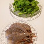 レシピ20200215_海老と菜の花の前菜